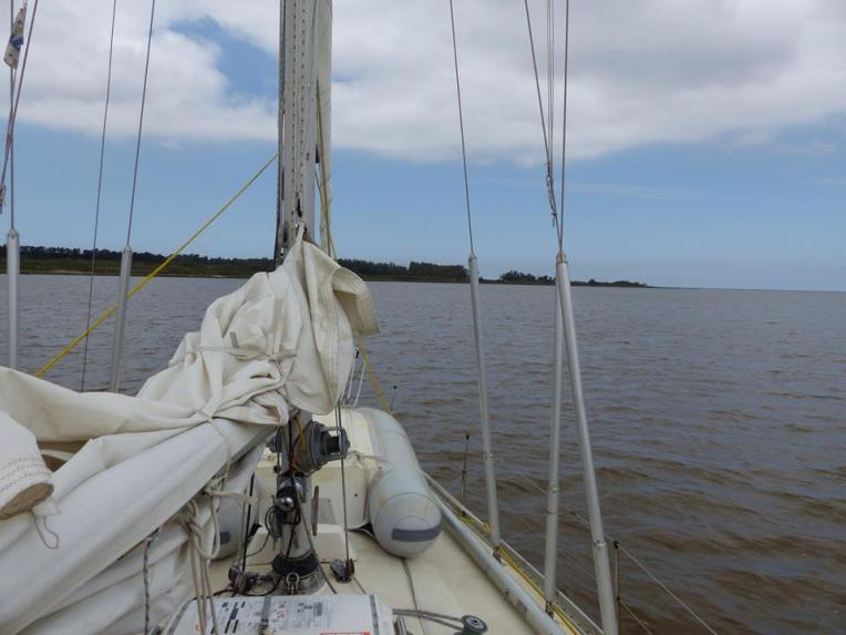 Ankkuripaikka Montevideon länsipuolella